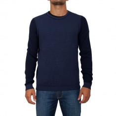 Pulover HUGO BOSS - Pulover barbati, Marime: XL, XXL, Culoare: Albastru, La baza gatului, Lana