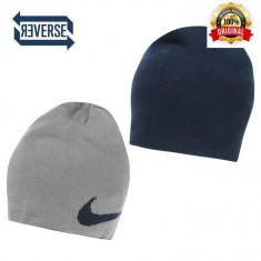Fes Nike Reverse - Original - Unisex Adult - 100% ACrylic - Detalii in anunt - Fes Barbati Nike, Marime: Marime universala, Culoare: Bleumarin