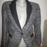 Sacou dama Zara negru cu argintiu -marimea XS