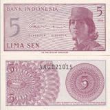 INDONEZIA 5 sen 1964 UNC!!!