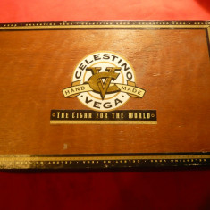 Cutie Trabucuri -Celestina Vega Super Rothschild , lemn ,Dim.= 26,5x15,5x4,5 cm