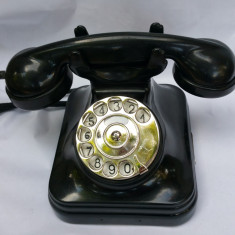 TELEFON VECHI DE BIROU ȘI INTERIOR CU DISC - BACHELITA - POSTA MAGHIARA - 1950