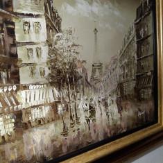 Paris, ulei pe panza - Pictor strain, Nonfigurativ, Art Deco