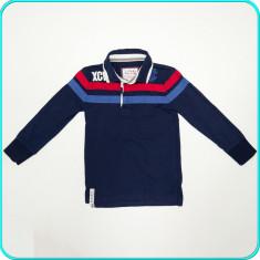 DE FIRMA → Bluza bumbac, frumoasa, calitate DEBENHAMS → baieti | 5-6 ani | 116, Marime: Alta, Culoare: Bleumarin