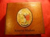 Cutie pt Trabucuri- Romeo si Julieta-R.Dominicana -Maduro ,lemn ,dim.=18x15cm