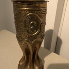 Tub de obuz,vechi,englezesc,modelat la cald