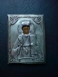 Ferecatura iconita Sfantul Nicolae, argint Romania