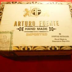 Cutie pt Trabucuri- Arturo Fuente R.Dominicana ,lemn ,dim.=21,5x14,8x7,5cm