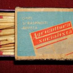 Cititi revista Agricultura Socialista - chibrituri romanesti 1965, cutie lemn
