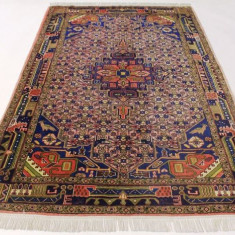 Covor persan autentic Hamadan, manual, antic - vintage, 230x150 cm - Covor vechi