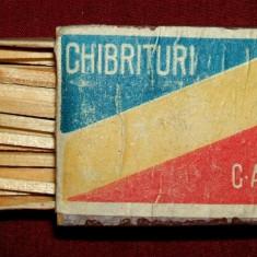 Chibrituri C.A.M. 1947 - chibrituri romanesti, cutie din lemn