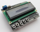LCD Display 1602 Keypad, HD44780, blue, modul Arduino