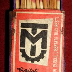 Vizitati Muzeul Tehnic din Parcul Libertatii - cutie chibrituri romanesti 1968