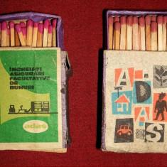 Incheiati Asigurari ADAS - chibrituri romanesti 1963-1967, cutii din lemn