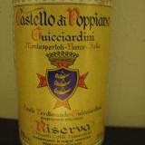 A 46 -VIN CASTELLO DI POPPIANO, DOC, RISERVA, RECOLTARE 1983 CL 75 GR 12, 5 - Vinde Colectie, Aroma: Sec, Sortiment: Rosu, Zona: Europa