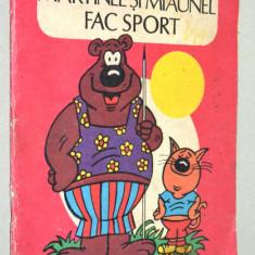 Carte veche de colorat - Martinel si Miaunel fac sport - Carte de colorat