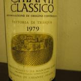A 28 -CHIANTI CLASSICO, DOC, FATTORIA DI TRASQUA, RECOLTARE 1979 CL 75 GR 12, 5 - Vinde Colectie, Aroma: Sec, Sortiment: Rosu, Zona: Europa
