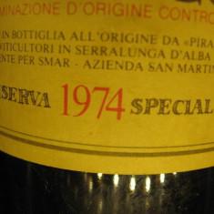 Vin vechi de colectie BAROLO, riserva speciale 1974, doc, cl 72, gr 13, 5 - Vinde Colectie, Aroma: Sec, Sortiment: Rosu, Zona: Europa