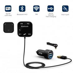 Modulator FM Transmitter Bluetooth A2DP Slots microSD MP3 Microfon Charger