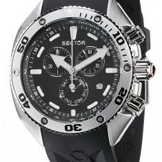Sector Ocean Master negru ceas barbati 100% original. Garantie.Livrare rapida. - Ceas barbatesc Sector, Casual, Quartz, Inox, Cauciuc, Cronograf