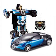 MEGA ROBOT TRANSFORMERS 2in1, MASINA BUGATTI VEYRON SI ROBOT, TELECOMANDA, ROBOT RC - Roboti de jucarie, Plastic, Unisex