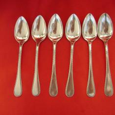 Set de 6 lingurite din argint ptr ceai, Set tacamuri