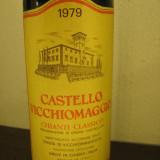 A 26 -CHIANTI CLASSICO CASTELLO VICCHIOMAGGIO, DOC, RECOLTARE 1979 CL 75 GR 12, 5 - Vinde Colectie, Aroma: Sec, Sortiment: Rosu, Zona: Europa