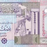 Bancnota Libia 1/2 Dinar (2002) - P63 UNC ( seria 5 ) - bancnota africa