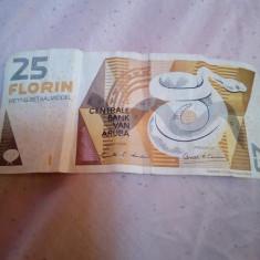 Bancnota florin 25 aruba din anul 2003 uzata... - bancnota america