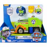 Rocky si Camionul de reciclat cu sunete si lumini Paw Patrol - Masinuta