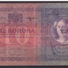 Austria 1904 - 10 korona cu stampila militara Serbia - Carte Postala Transilvania 1904-1918