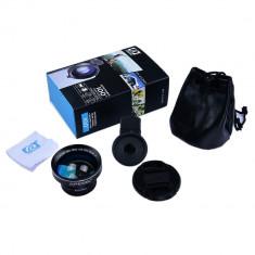 Lentila Professional HD 0.63x Super Wide Angle Lens 12.5x Super Macro cu clip