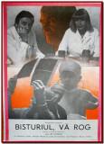 Bisturiul, va rog - Afis Romaniafilm film cehoslovac 1985, cinema Epoca de Aur