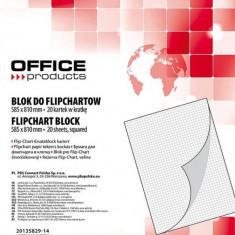 Hartie flipchart, matematica, 70 g/mp, 20 coli/top, Office