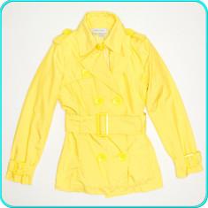 Jacheta-trench-blazer dama, frumos, practic, calitate ZARA → femei | marimea M - Jacheta dama, Marime: M, Culoare: Galben, Poliester