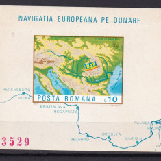 Romania 1977 navigatia europeana pe Dunare nedant. MNH w46 - Timbre Romania, Nestampilat