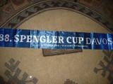Esarfa matase - Spengler Cup Davos - Hokei 2014 , L= 150 cm