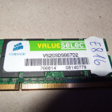 Memorie RAM laptop SODIMM DDR2 2GB 667mhz Corsair ( DDR 2 2 GB notebook )