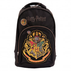 Ghiozdan Harry Potter, 2 compartimente, 1 buzunar, negru, Pigna