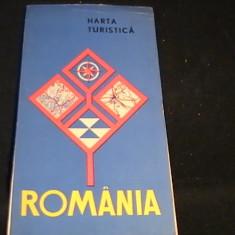 ROMANIA- HARTA TURISTICA-DEM POPESCU-