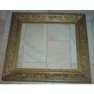 Rama veche din lemn cu stucatura pentru tablou