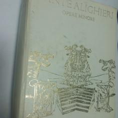 DANTE ALIGHIERI - OPERE MINORE - Carte poezie