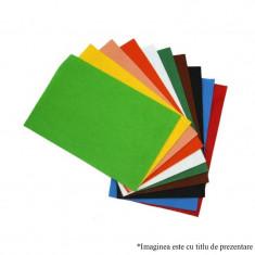 Material pasla fetru colorat format A4