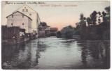 #2137 -Romania, Lugoj carte postala circulata 1906: Moara Spaniola, Fotografie