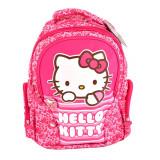 Ghiozdan Hello Kitty pentru fetite, 2 compartimente, roz, Pigna