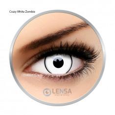 Lentile de contact colorate Crazy White Zombie