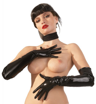 Latex Gloves black Manusi Latex Negre foto