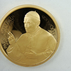 Medalie comemorativa Papa Ioan Paul al II-lea Moneda Papa Ioan Paul Placheta