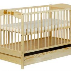 Patut Copii Lemn Cu Sertar Radek V Natur - Patut lemn pentru bebelusi Klups