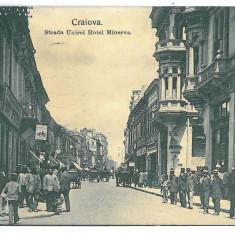 4053 - CRAIOVA, street Unirii - old postcard - used - 1917 - Carte Postala Oltenia 1904-1918, Circulata, Printata